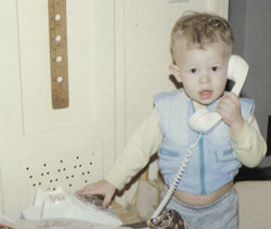 Hello... I'd like to speak with my Senator regarding Universal Preschool Legislation. Of course, mom knows I'm using the telephone!